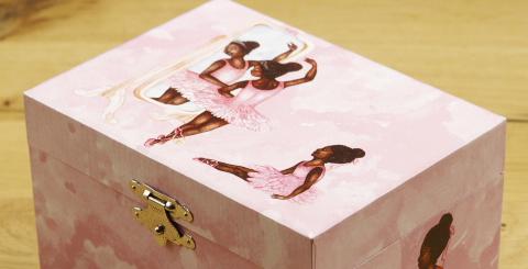 Product van de maand juli: muziekdoosje met donkere ballerina!